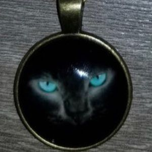 Necklace Pretty Teal Cat Eye